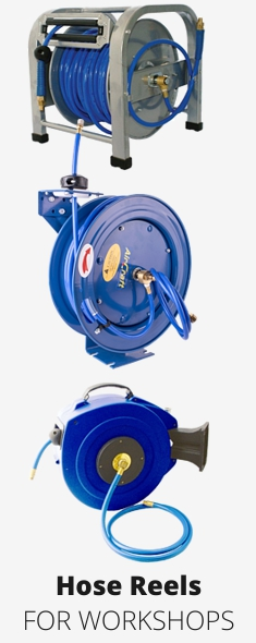 Workshop hose reels