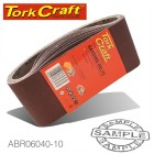 SANDING BELT 75 X 457MM 40 GRIT 10/PACK