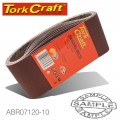 SANDING BELT 75 X 510MM 120GRIT 10/PACK