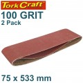 SANDING BELT 75 X 533MM 100GRIT 2/PACK