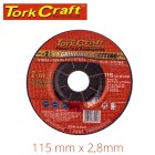 2 IN 1 GRINDING & CUTTING DISC 115MM X 2.8 X 0.22 STEEL/SS/PVA/ALU/STO