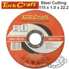 CUTTING DISC INDUSTRIAL METAL 115 x 1.0 x 22.2 MM