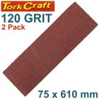 SANDING BELT 75 X 610MM 120GRIT 2/PACK