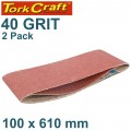 SANDING BELT 100 X 610MM 40GRIT 2/PACK