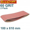 SANDING BELT 100 X 610MM 60GRIT 2/PACK