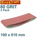 SANDING BELT 100 X 610MM 80GRIT 2/PACK