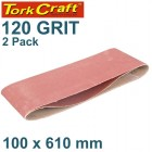 SANDING BELT 100 X 610MM 120GRIT 2/PACK