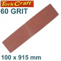 SANDING BELT 100 X 915MM 60 GRIT BULK
