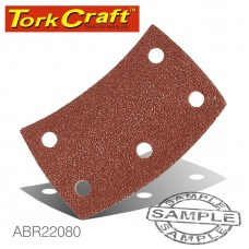 SANDING PADS CURVED 80 GRIT VELCRO