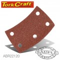 SANDING PADS CURVED 120 GRIT VELCRO