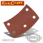 SANDING PADS CURVED 120 GRIT HOOK AND LOOP