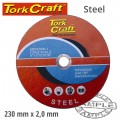 CUTTING DISC FOR STEEL 230 X 2.0 X 22.22MM