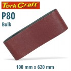 SANDING BELT 100 X 620MM 80 GRIT BULK