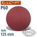 SANDING DISC VELCRO 125MM NO HOLE 60 GRIT BULK