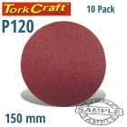 SANDING DISC 150MM 120 GRIT 10/PK HOOK AND LOOP