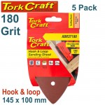 SANDING TRI - 180 GRIT 145 X 145 X 100MM 5/PACK FOR TCMS HOOK AND LOOP