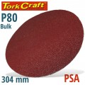 SANDING DISC PSA 304MM 80 GRIT NO HOLE BULK