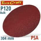 SANDING DISC PSA 304MM 120 GRIT NO HOLE BULK