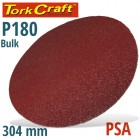 SANDING DISC PSA 304MM 180 GRIT NO HOLE BULK
