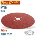 FIBRE DISC 180MM 16 GRIT BULK