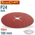 FIBRE DISC 180MM 24 GRIT BULK