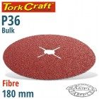 FIBRE DISC 180MM 36 GRIT BULK