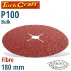 FIBRE DISC 180MM 100 GRIT BULK