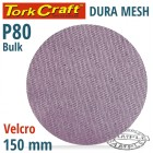 DURA MESH ABR.DISC 150MM HOOK AND LOOP 80GRIT BULK FOR SANDER POLISHER