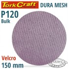DURA MESH ABR.DISC 150MM HOOK & LOOP 120GRIT BULK FOR SANDER POLISHER