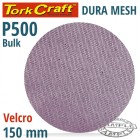 DURA MESH ABR.DISC 150MM HOOK & LOOP 500GRIT BULK FOR SANDER POLISHER