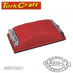 SANDING BLOCK 210 X 105 FOR HAND USE RED