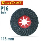 VULCANIZED FIBRE DISC 115MM 16 GRIT BULK