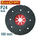 VULCANIZED FIBRE DISC 180MM 24 GRIT BULK