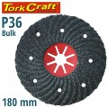 VULCANIZED FIBRE DISC 180MM 36 GRIT BULK