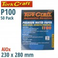 PREMIUM WATERPROOF PAPER  100 GRIT 230  X 28 (50 PIECE) AUTOMOTIVE
