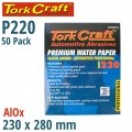 PREMIUM WATERPROOF PAPER  220 GRIT 230  X 28 (50 PIECE) AUTOMOTIVE