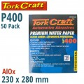PREMIUM WATERPROOF PAPER  400 GRIT 230  X 28 (50 PIECE) AUTOMOTIVE