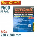 PREMIUM WATERPROOF PAPER  600 GRIT 230  X 280 (50 PIECE) AUTOMOTIVE