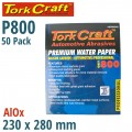 PREMIUM WATERPROOF PAPER  800 GRIT 230  X 280 (50 PIECE) AUTOMOTIVE