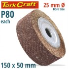 FLAP WHEEL 150 X 50 X 25MM BORE 80 GRIT PER EACH