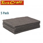 PAD NON WOVEN IND. STRENGTH 5PC 150 X 230MM ULTRA FINE GREY