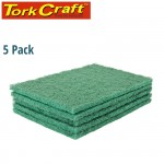 PAD NON WOVEN IND. STRENGTH 5PC 150 X 230MM FINE GREEN - GRE