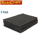 PAD NON WOVEN IND. STRENGTH 5PC 150 X 230MM MEDIUM BLACK