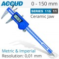 DIGITAL CALIPER WITH CERAMIC TIPPED JAWS 0-150MM/0-6""