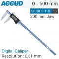 "DIGITAL CALIPER JAW LENGTH 200MM 0-500MM/0-24"" 0.01MM RES."