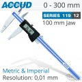 ACCUD DIGITAL CALIPER  0-300MM 0.05MM 100MM JAW S/STEEL