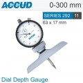 DIAL DEPTH GAUGE BASE 63X17MM 0-300MM