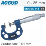 NON ROTATING SPINDLE DISK MICROMETER 0-25MM