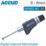 DIGITAL THREE POINTS INTERNAL MICROMETER WITH SETTING RING 6-8MM/0.24-