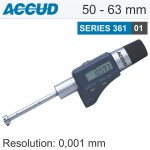 DIGITAL THREE POINTS INTERNAL MICROMETER WITH SETTING RING 50-63MM/1.9